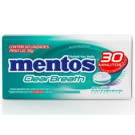 MENTOS PASTILHA CLEAR BREATH WINTERGREEN 35G