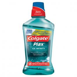 Enxaguante Antisséptico Bucal Colgate Plax Ice Infinity com 500ml