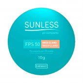 Pó Compacto Sunless Bege Claro FPS50 com 10g