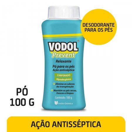 Pó para os Pés Vodol Prevent Relaxante 100g