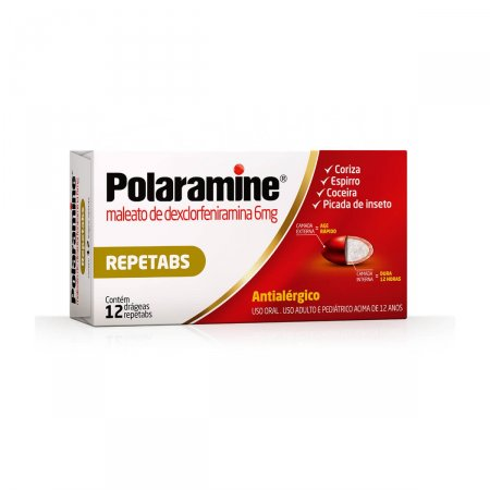 POLARAMINE 6 MG 12 DRAGEAS