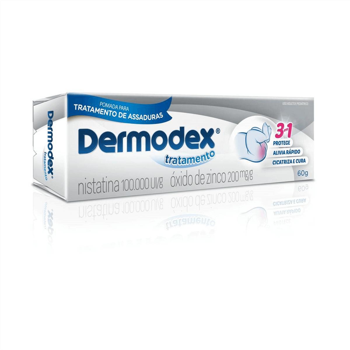 Pomada para Assaduras Dermodex Tratamento 100.000UI/g + 200mg/g com 60g 60g
