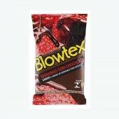 BLOWTEX PRESERVATIVO MORANGO COM CHOCOLATE COM 3 UNIDADES
