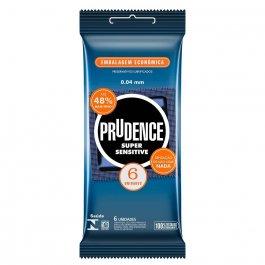 Camisinha Prudence Super Sensitive com 6 unidades