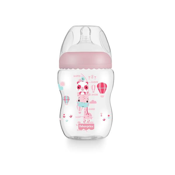 Mamadeira Fisher-Price First Moments 270ml Rosa 1 Unidade