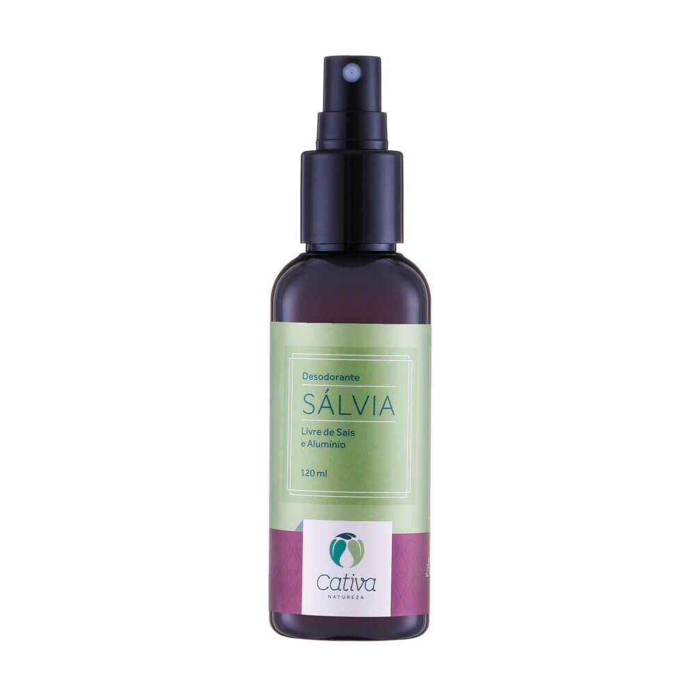 Desodorante Spray Natural de Sálvia 120ml – Cativa Natureza