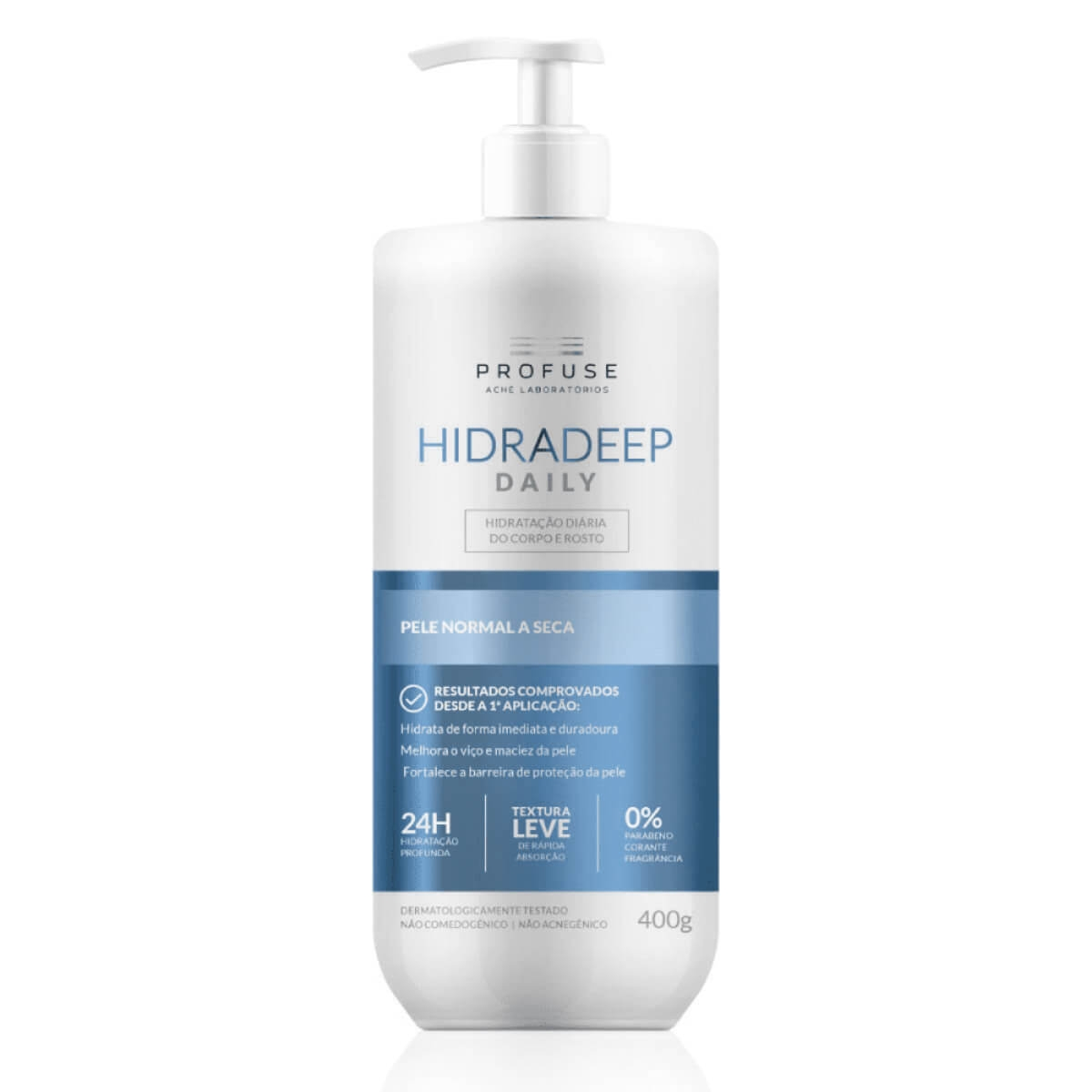 Hidratante para Corpo e Rosto Profuse Hidradeep Daily Pele Normal a Seca com 400g 400g