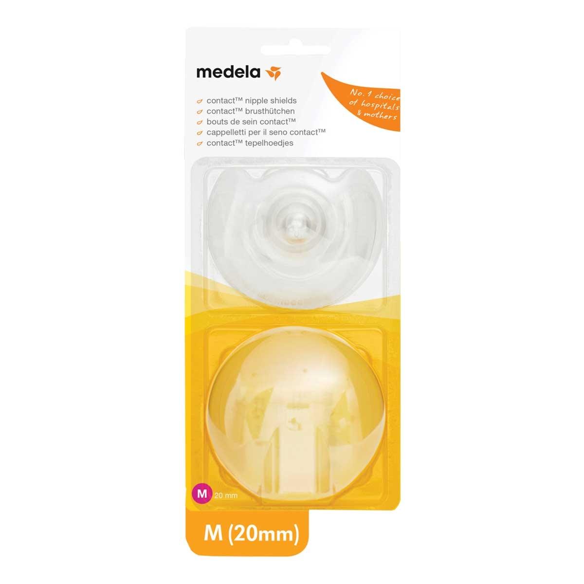 Protetor de Mamilo de Silicone Medela M 20mm 2 Unidades 2 Unidades