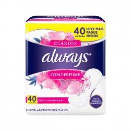 Protetor Diário Always com Perfume com 40 Unidades