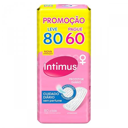 INTIMUS DAYS SEM ABAS SEM PERFUME PH PROTECT LEVE 80 PAGUE 60