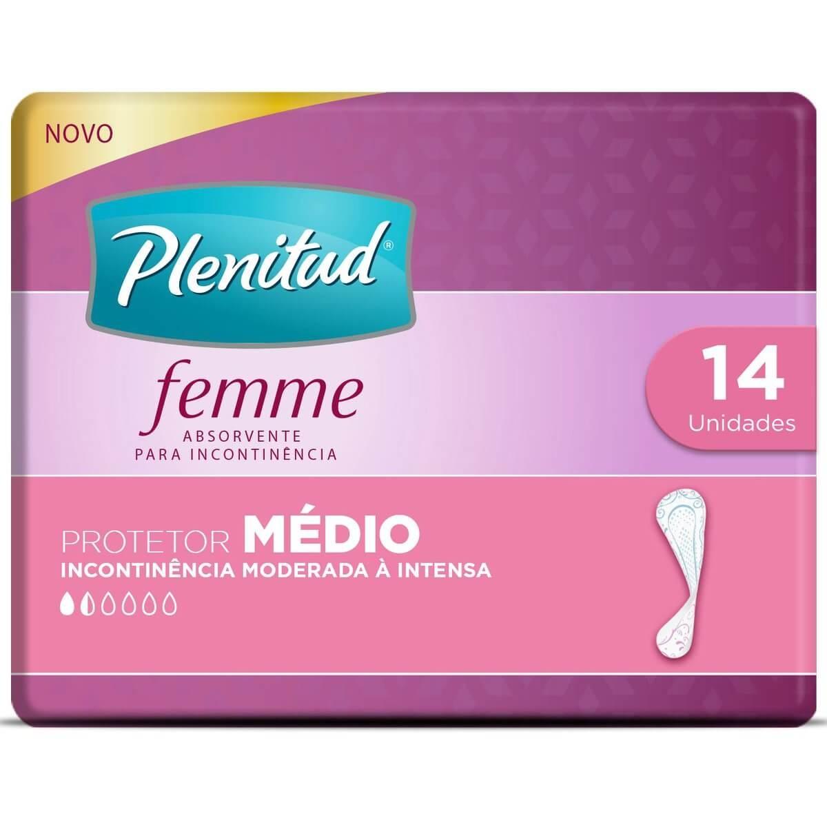 Protetor Diário Plenitud Femme Médio com 14 Unidades 14 Unidades