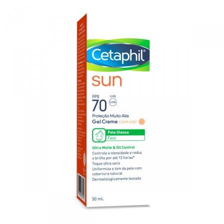 CETAPHIL SUN PROTETOR SOLAR COM COR FPS 70 ULTRA MATTE & OIL CONTROL 50ML