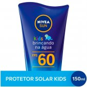 Protetor Solar Corporal Infantil Nivea Sun Kids Brincando na Água FPS 60 com 150ml