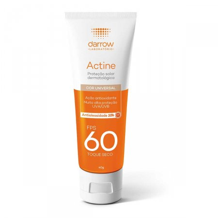 Protetor Solar Facial Actine Cor Universal FPS60 40g   Drogasil.com Foto 1