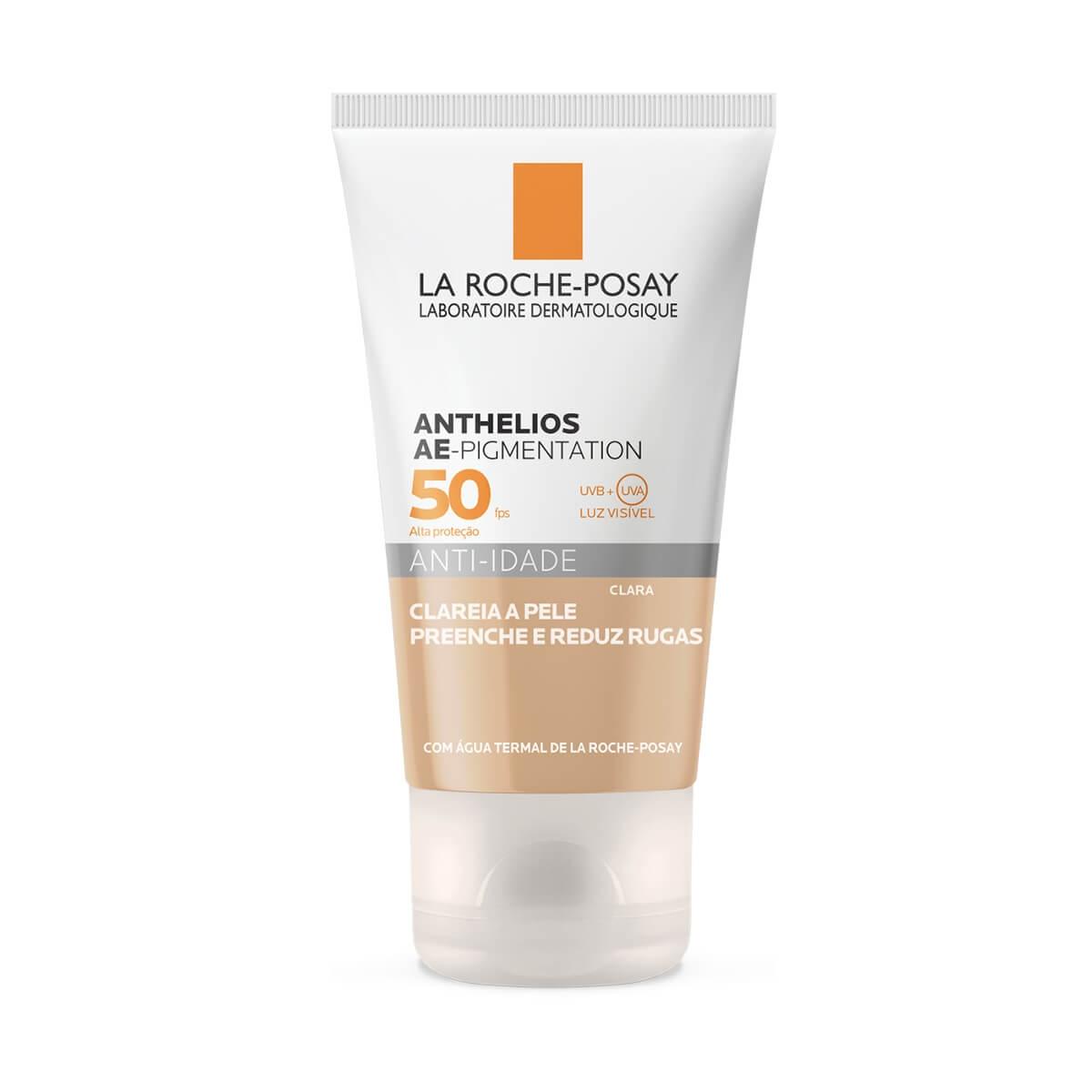 Protetor Solar Facial La Roche-Posay Anthelios AE-Pigmentation Cor Clara FPS 50 com 40g 40g