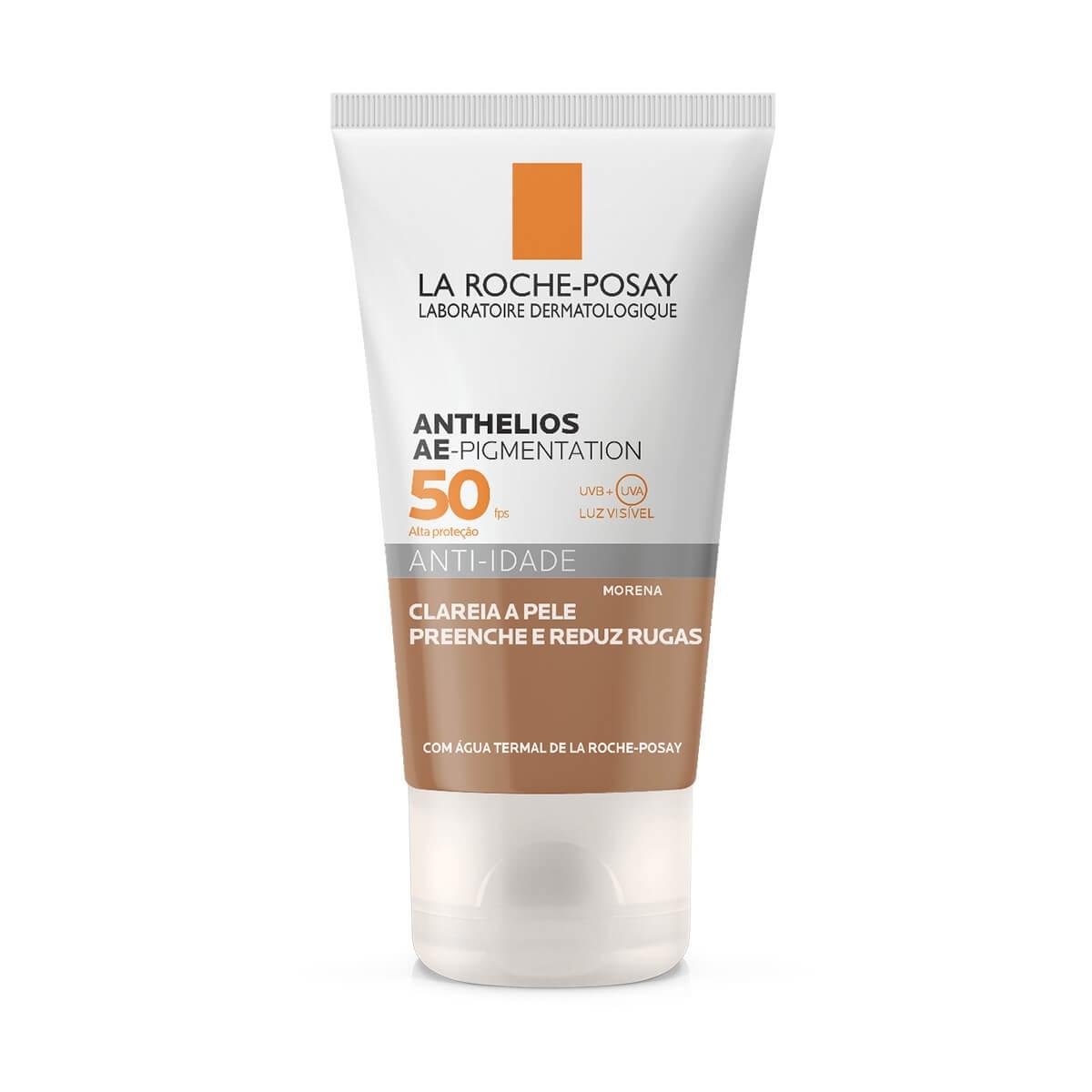 Protetor Solar Facial La Roche-Posay Anthelios AE-Pigmentation Anti-Idade Morena FPS 50 com 40g 40g