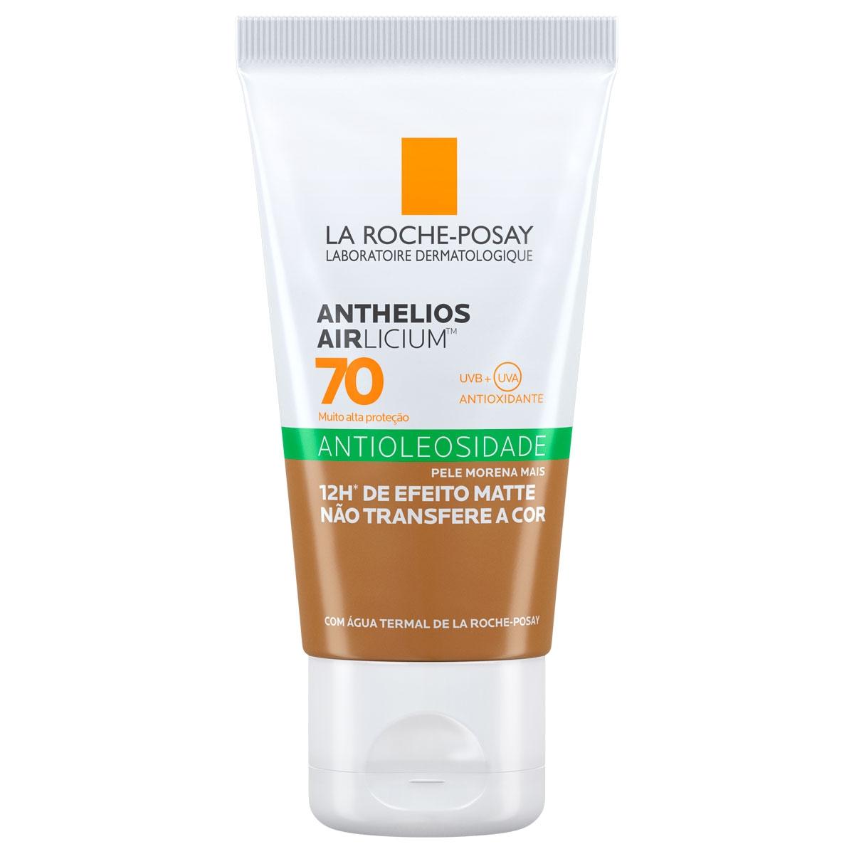 Protetor Solar Facial La Roche-Posay Anthelios Airlicium Antioleosidade Pele Morena Mais FPS 70 com 40g 40g