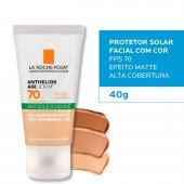 Protetor Solar Facial Anthelios Airlicium Antioleosidade Pele Clara FPS70