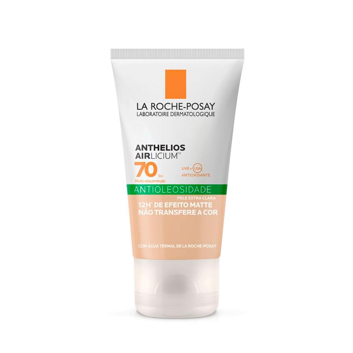 Protetor Solar Facial La Roche- Posay Anthelios Airlicium Antioleosidade Pele Extra Clara FPS 70 com 40g 40g
