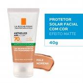 Protetor Solar Facial Anthelios Airlicium Antioleosidade Pele Morena FPS70