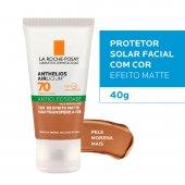 Protetor Solar Facial Anthelios Airlicium Antioleosidade Pele Morena Mais FPS70