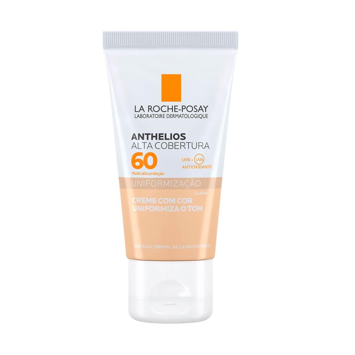 Protetor Solar Facial Anthelios Alta Cobertura Cor Clara FPS60 La Roche-Posay 40ml