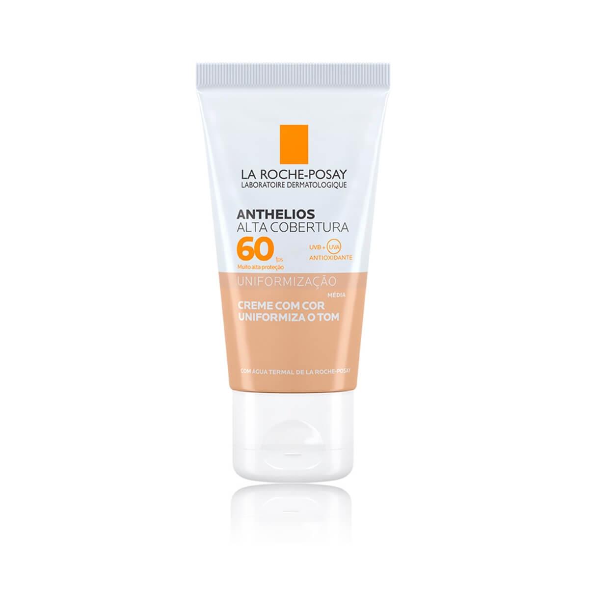 Protetor Solar Facial La Roche-Posay Anthelios Alta Cobertura Cor Média FPS 60 com 40ml 40ml
