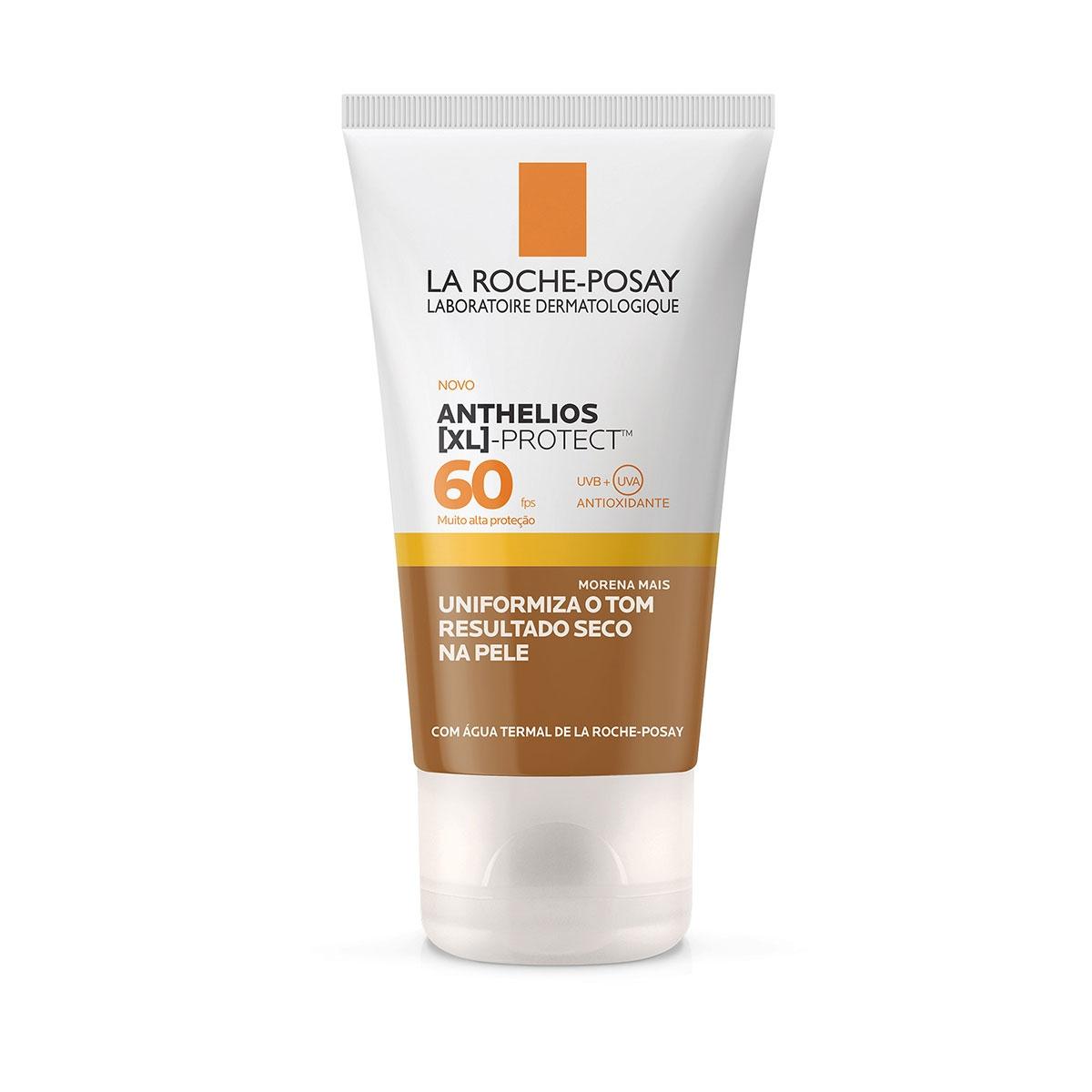Protetor Solar Facial Anthelios XL Protect Cor Morena Mais FPS60 La Roche-Posay 40g