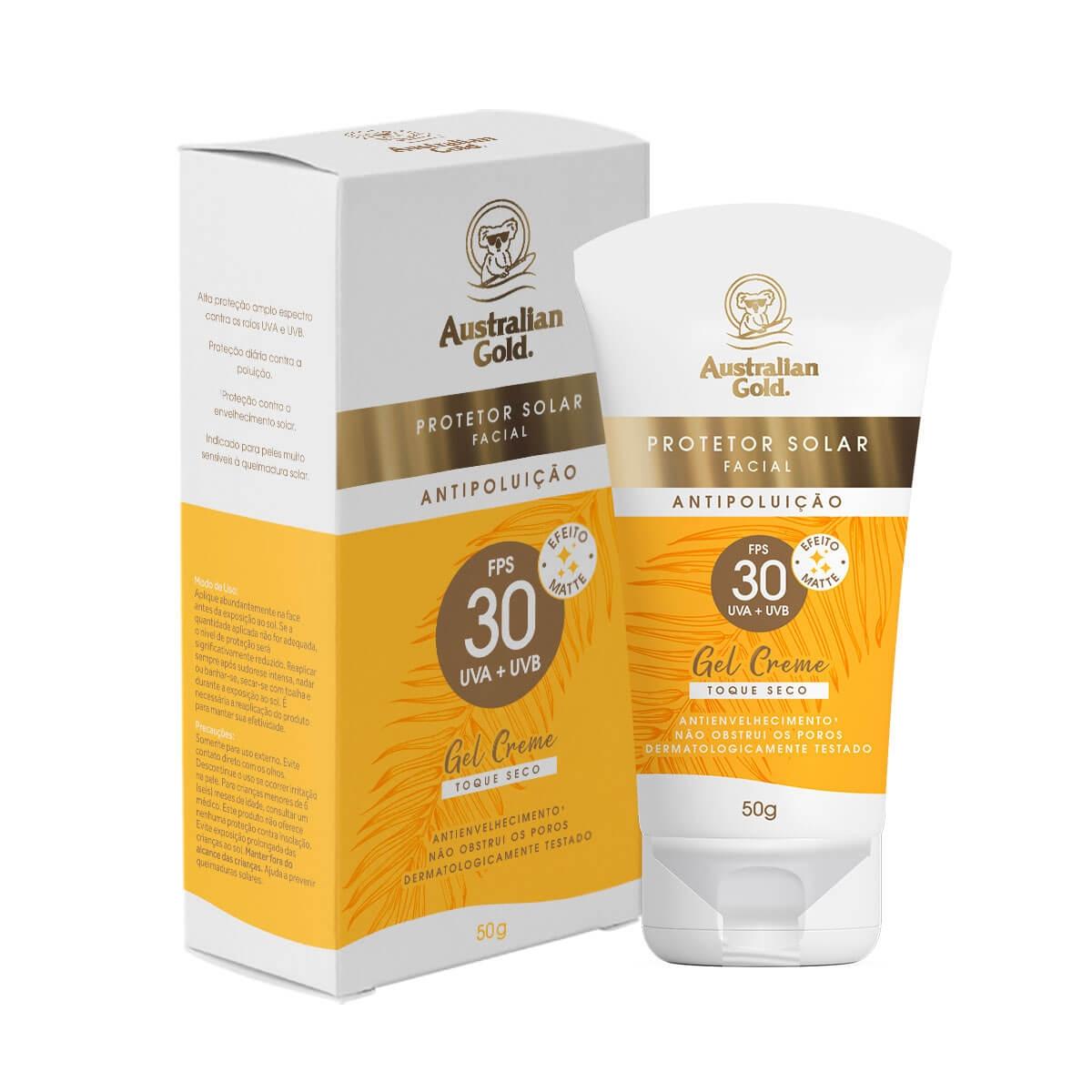Protetor Solar Facial Australian Gold FPS30 50g