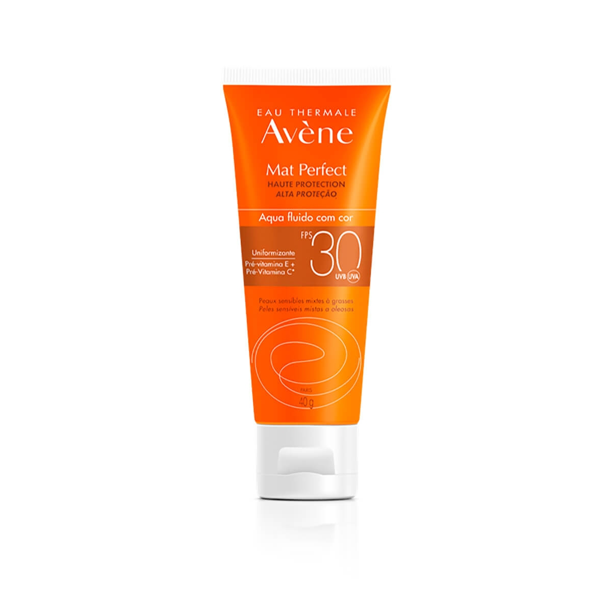 Protetor Solar Facial Avène Mat Perfect Aqua-Fluido com Cor FPS30 com 40g 40g