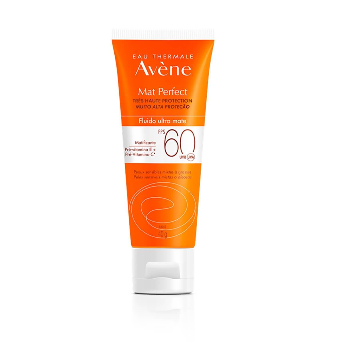 Protetor Solar Facial Avène Mat Perfect Fluido FPS60 com 40g 40g