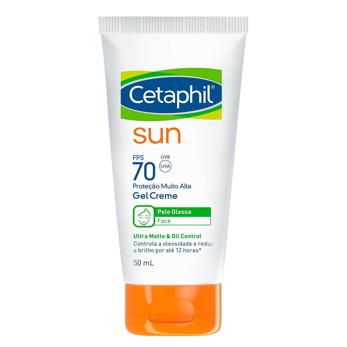 Protetor Solar Facial Cetaphil Sun Pele Oleosa Gel Creme FPS 70 com 50ml 50ml