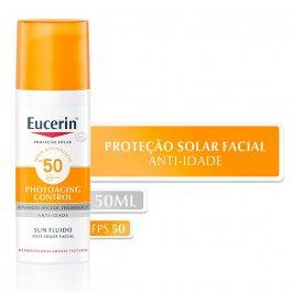Protetor Solar Facial Eucerin Sun Fluido Anti-Idade FPS50 com 50g