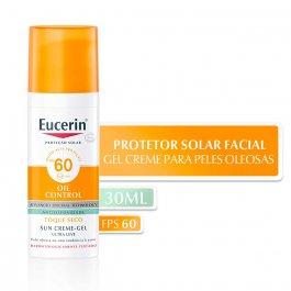 Protetor Solar Facial Eucerin Sun Oil Control FPS60 com 52g