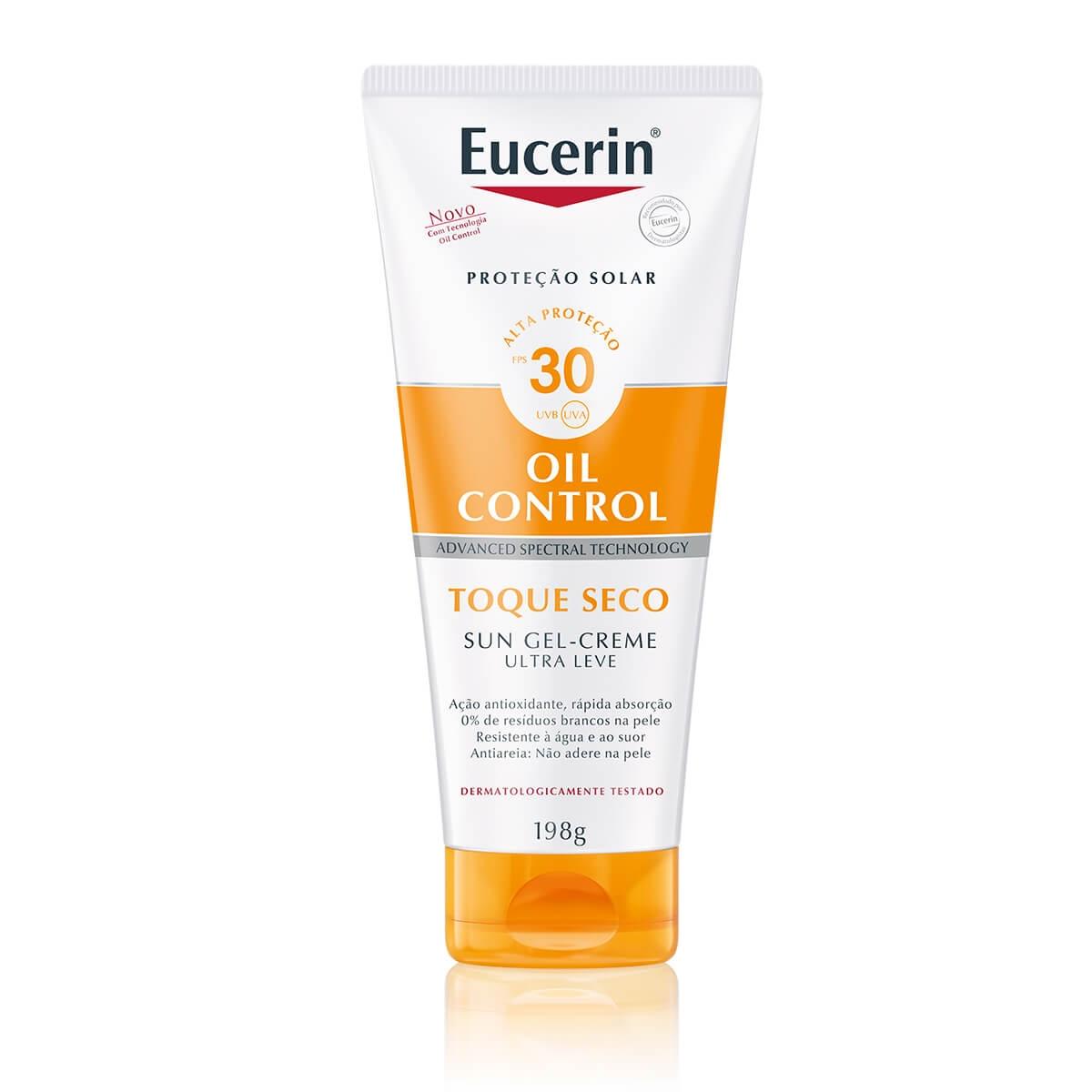Protetor Solar Corporal Eucerin Sun Gel-Creme Oil Control Toque Seco FPS30 com 200ml 200ml
