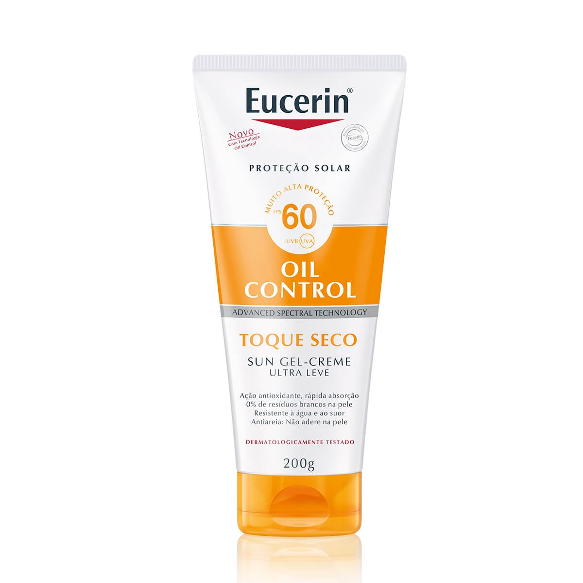 Protetor Solar Corporal Eucerin Sun Oil Control Gel-Creme Toque Seco FPS 60 com 200g 200ml