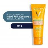 Protetor Solar Facial Idéal Soleil Purify Cor Clara FPS70 com 40g