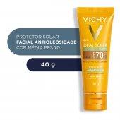Protetor Solar Facial Idéal Soleil Purify Cor Média FPS 70 com 40g