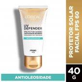 Protetor Solar Facial Antioleosidade L'Oréal UV Defender FPS 60 com 40g