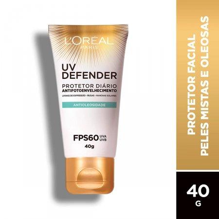 Protetor Solar Facial L'Oréal UV Defender Antioleosidade FPS60