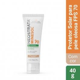 Protetor Solar NeoStrata Minesol FPS 70 Oil Control Facial com Cor Pele Morena com 40g