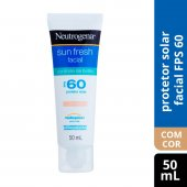 Protetor Solar Facial Neutrogena Sun Fresh Controle de Brilho com Cor FPS60