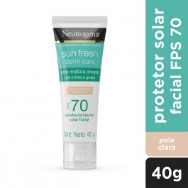 Protetor Solar Facial Neutrogena Sun Fresh Derm Care Pele Clara FPS 70 com 40g