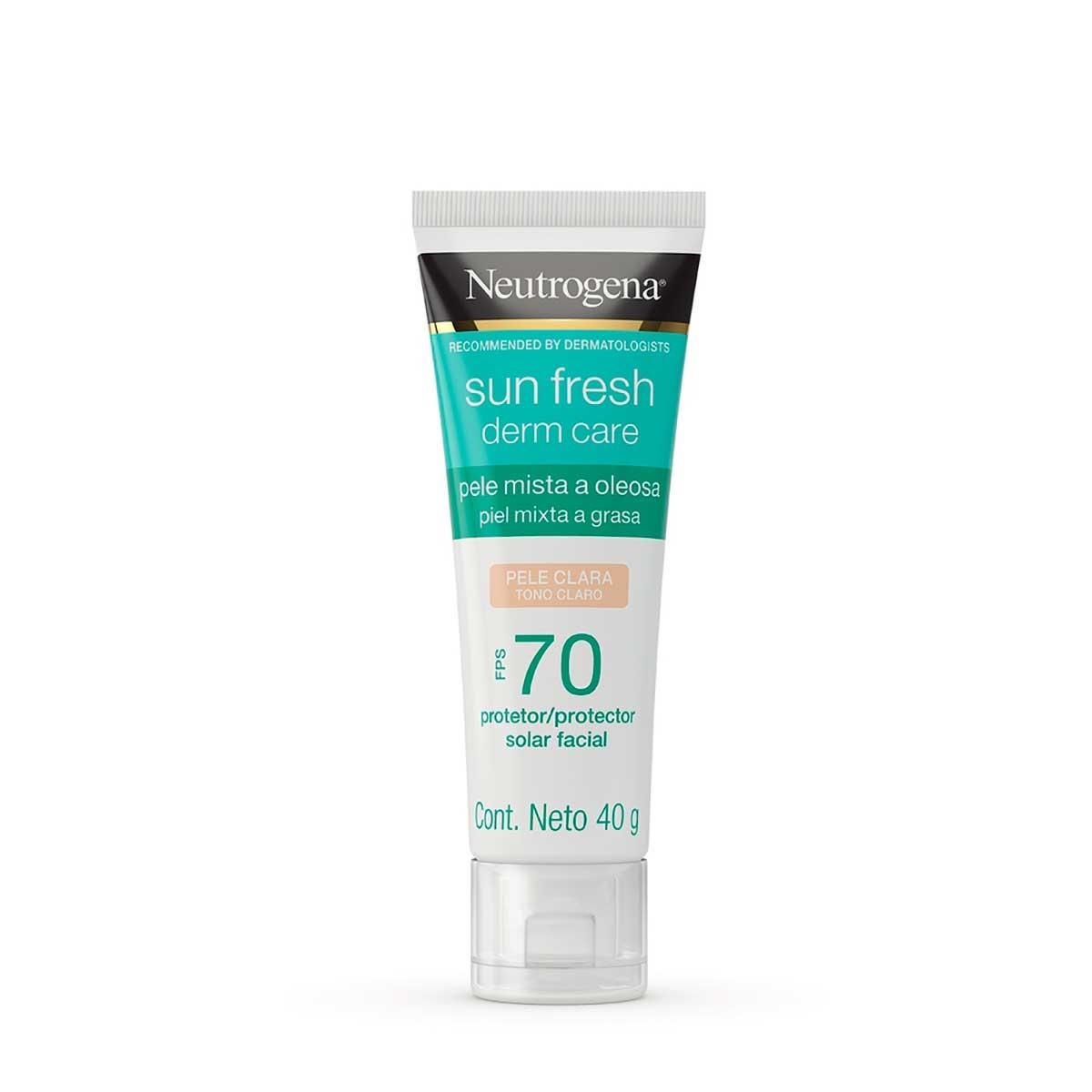 Protetor Solar Facial Neutrogena Sun Fresh Derm Care Pele Clara FPS70 com 40g 40g