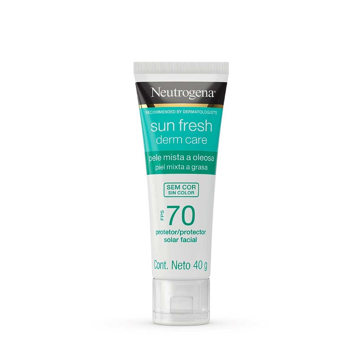 Protetor Solar Neutrogena Sun Fresh Derm Care FPS 70 Facial Pele Mista a Oleosa com 40g 40g