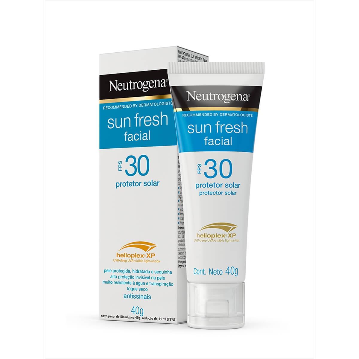 Protetor Solar Facial Neutrogena Sun Fresh FPS30 40g