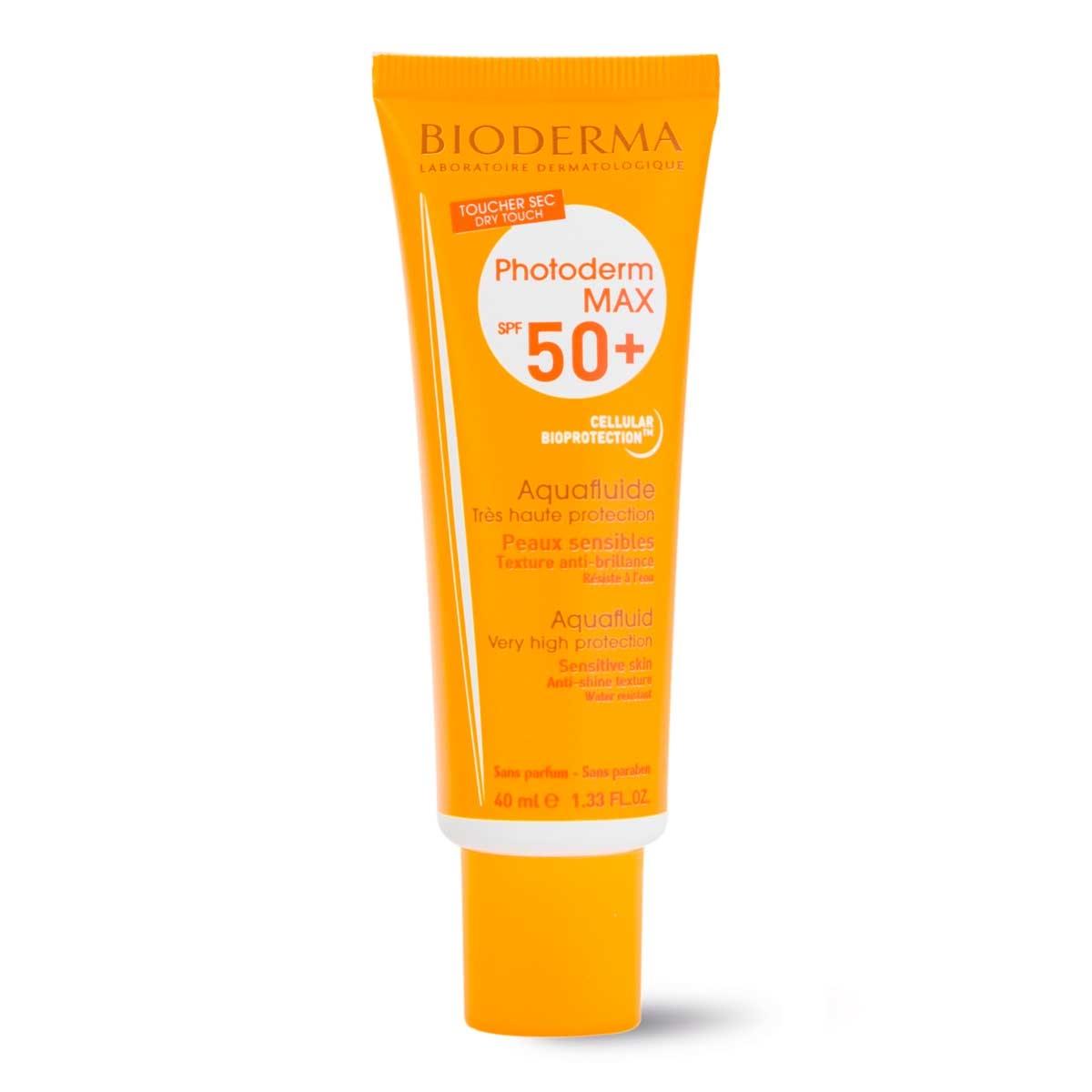 Protetor Solar Facial Bioderma Photoderm Max Aquafluide Sem Cor FPS50+ com 40ml 40ml