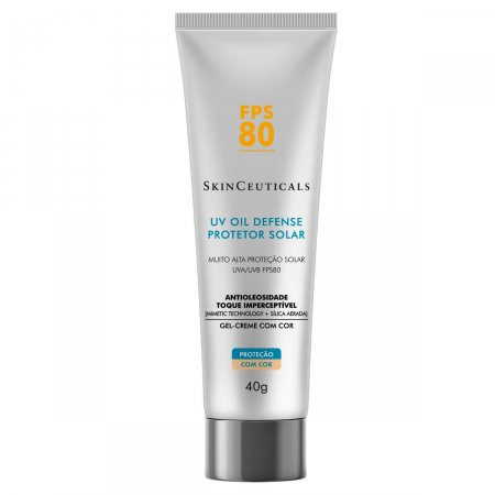 Protetor Solar Facial SkinCeuticals UV Oil Defense com Cor FPS80
