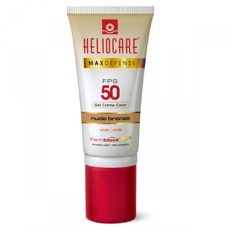 Protetor Solar Gel Creme Color Heliocare Max Defense Nude Bronze FPS50 50g |