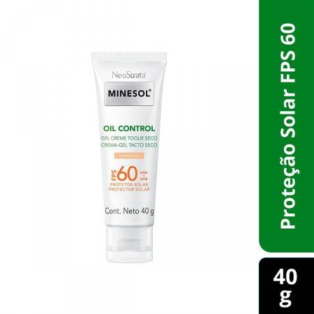 Protetor Solar Gel Creme Facial NeoStrata Minesol Oil Control Toque Seco Cor Universal FPS60